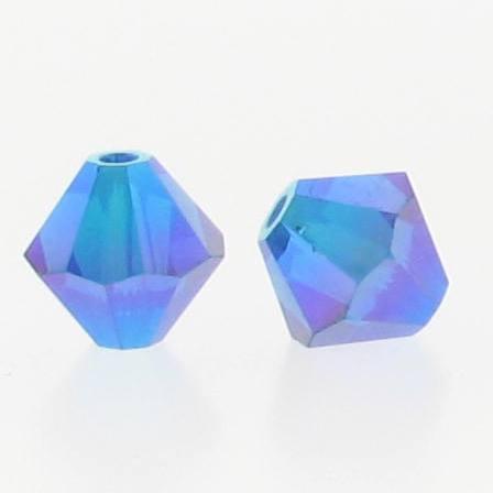 5301/5328 - 6mm Swarovski Bicone Crystal Bead - Capri Blue AB2X