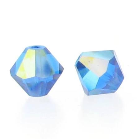 5301/5328 - 6mm Swarovski Bicone Crystal Bead - Capri Blue AB