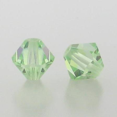 5301/5328 - 3mm Swarovski Bicone Crystal Bead - Chrysolite AB