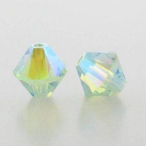 5301/5328 - 3mm Swarovski Bicone Crystal Bead - Chrysolite AB2X