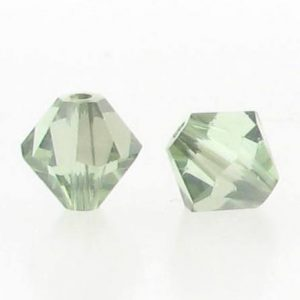 5301/5328 - 6mm Swarovski Bicone Crystal Bead - Chrysolite Satin