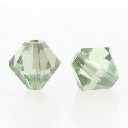 5301/5328 - 6mm Swarovski Bicone Crystal Bead - Chrysolite Satin