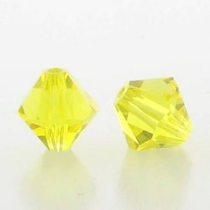 5301/5328 - 3mm Swarovski Bicone Crystal Bead - Citrine