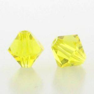 5301/5328 - 3mm Swarovski Bicone Crystal Bead - Citrine