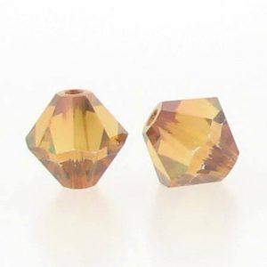 5301/5328 - 3mm Swarovski Bicone Crystal Bead - Crystal Copper