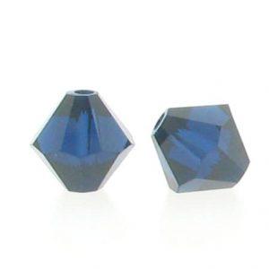 5301/5328 - 3mm Swarovski Bicone Crystal Bead - Dark Indigo