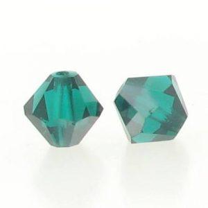 5301/5328 - 3mm Swarovski Bicone Crystal Bead - Emerald Satin