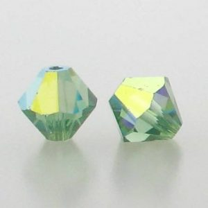 5301/5328 - 6mm Swarovski Bicone Crystal Bead - Erinite AB