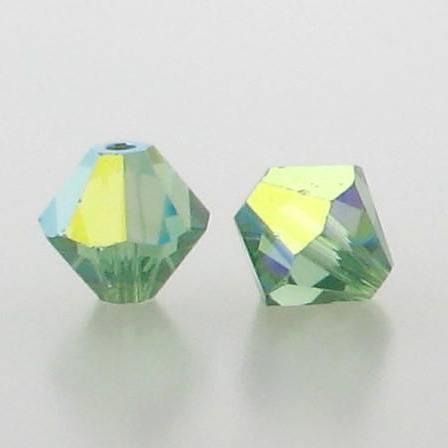 5301/5328 - 6mm Swarovski Bicone Crystal Bead - Erinite AB
