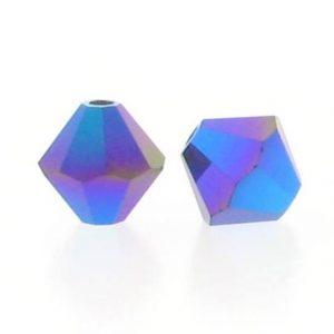 5301/5328 - 3mm Swarovski Bicone Crystal Bead - Garnet AB2X