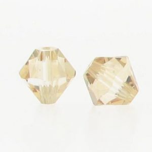 5301/5328 - 3mm Swarovski Bicone Crystal Bead - Golden Shadow