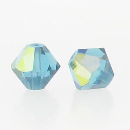 5301/5328 - 5mm Swarovski Bicone Crystal Bead - Indicolite AB