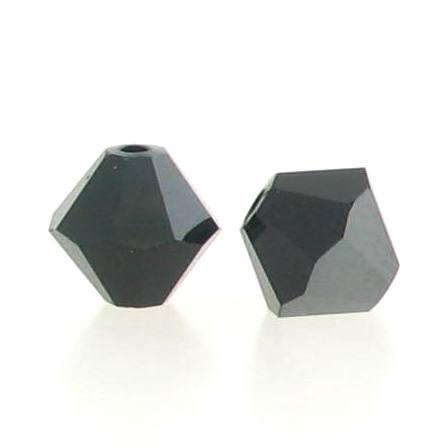 5301/5328 - 3mm Swarovski Bicone Crystal Bead - Jet Hematite
