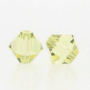 5301/5328 - 3mm Swarovski Bicone Crystal Bead - Jonquil