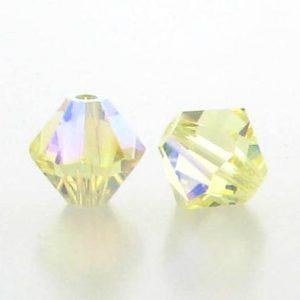 5301/5328 - 3mm Swarovski Bicone Crystal Bead - Jonquil AB