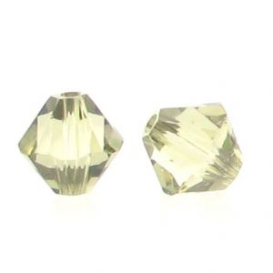 5301/5328 - 6mm Swarovski Bicone Crystal Bead - Jonquil Satin