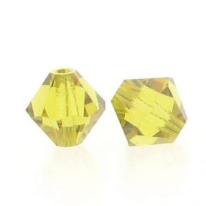 5301/5328 - 3mm Swarovski Bicone Crystal Bead - Lime