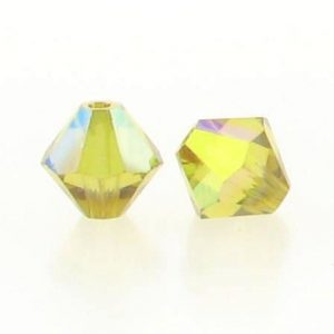 5301/5328 - 6mm Swarovski Bicone Crystal Bead - Lime AB