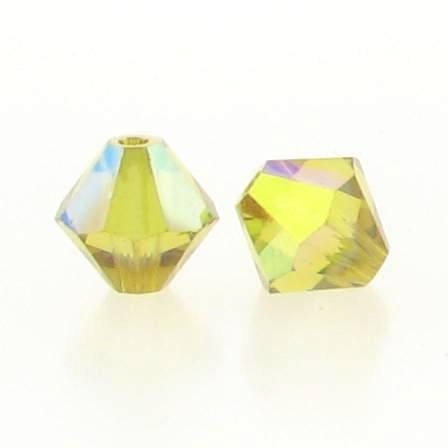 5301/5328 - 6mm Swarovski Bicone Crystal Bead - Lime AB