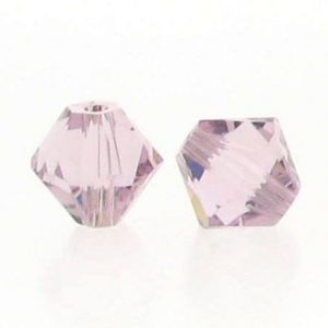 5301/5328 - 3mm Swarovski Bicone Crystal Bead - Light Amethyst