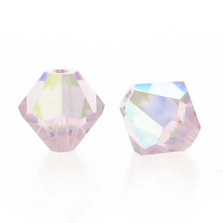 5301/5328 - 5mm Swarovski Bicone Crystal Bead - Light Amethyst AB
