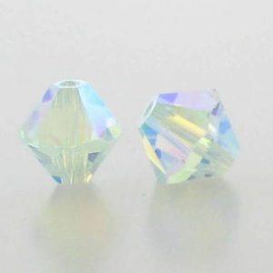 5301/5328 - 3mm Swarovski Bicone Crystal Bead - Light Azore AB2X