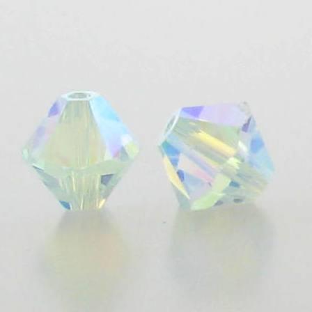 5301/5328 - 6mm Swarovski Bicone Crystal Bead - Light Azore AB2X