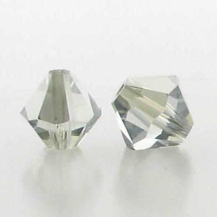 5301/5328 - 6mm Swarovski Bicone Crystal Bead - Light Azore Satin