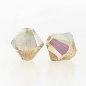 5301/5328 - 6mm Swarovski Bicone Crystal Bead - Light Colo.Topaz AB