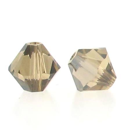 5301/5328 - 3mm Swarovski Bicone Crystal Bead - Light Col.Topaz Satin