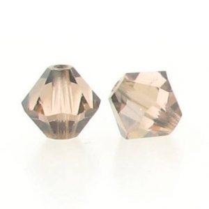 5301/5328 - 6mm Swarovski Bicone Crystal Bead - Light Peach Satin