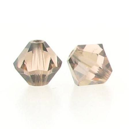 5301/5328 - 6mm Swarovski Bicone Crystal Bead - Light Peach Satin