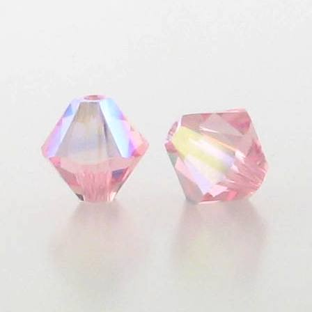 5301/5328 - 3mm Swarovski Bicone Crystal Bead - Light Rose AB
