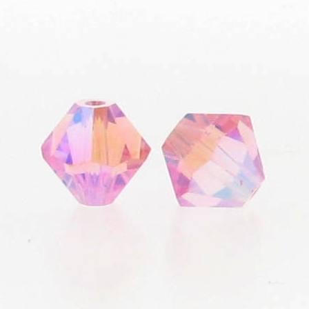 5301/5328 - 6mm Swarovski Bicone Crystal Bead - Light Rose AB2X