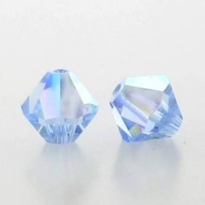 5301/5328 - 5mm Swarovski Bicone Crystal Bead - Light Sapphire AB