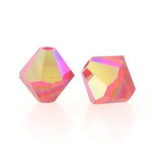 5301/5328 - 3mm Swarovski Bicone Crystal Bead - Light Siam AB
