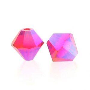 5301/5328 - 3mm Swarovski Bicone Crystal Bead - Light Siam AB2X