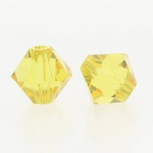 5301/5328 - 3mm Swarovski Bicone Crystal Bead - Light Topaz