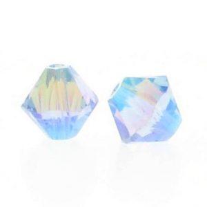 5301/5328 - 3mm Swarovski Bicone Crystal Bead - Light Sapphire AB2X