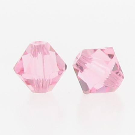 5301/5328 - 3mm Swarovski Bicone Crystal Bead - Light Rose