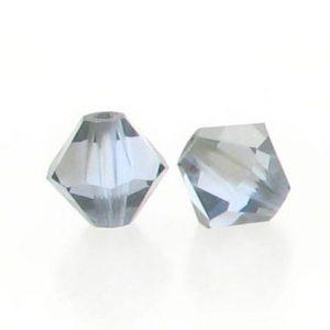 5301/5328 - 3mm Swarovski Bicone Crystal Bead - Light Sapphire Satin