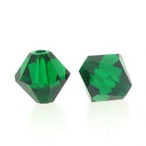 5301/5328 - 3mm Swarovski Bicone Crystal Bead - Medium Emerald