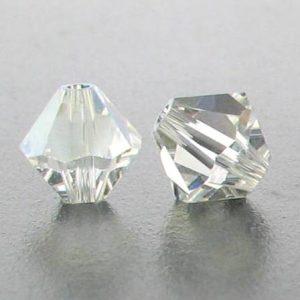 5301/5328 - 3mm Swarovski Bicone Crystal Bead - Crystal Moonlight