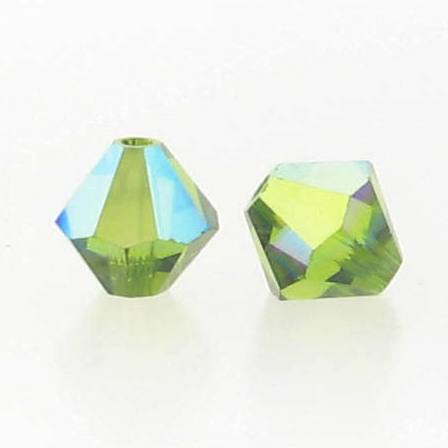 5301/5328 - 5mm Swarovski Bicone Crystal Bead - Olivine AB