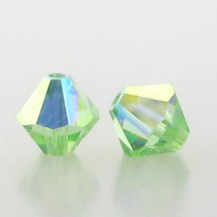 5301/5328 - 5mm Swarovski Bicone Crystal Bead - Peridot AB