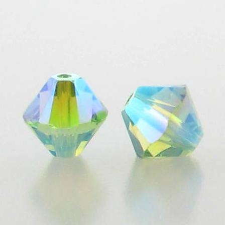 5301/5328 - 3mm Swarovski Bicone Crystal Bead - Peridot AB2X