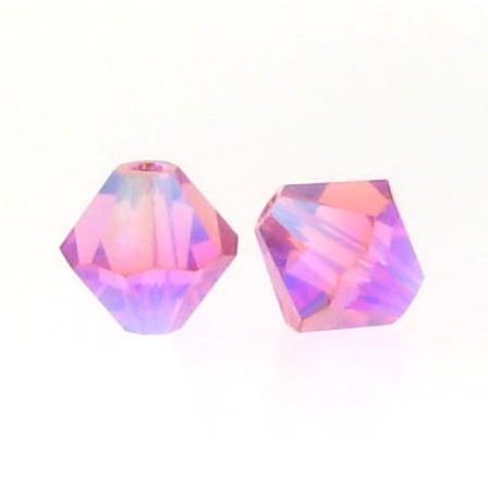 5301/5328 - 3mm Swarovski Bicone Crystal Bead - Rose AB2X