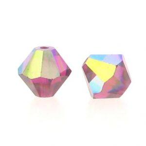 5301/5328 - 5mm Swarovski Bicone Crystal Bead - Ruby AB