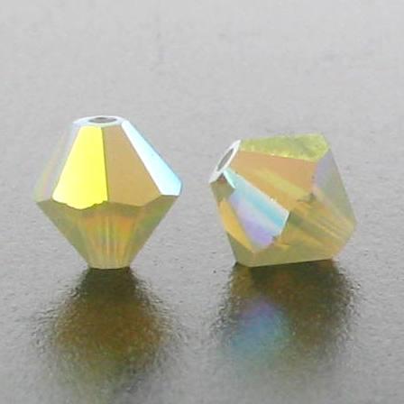 5301/5328 - 6mm Swarovski Bicone Crystal Bead - Sand Opal AB