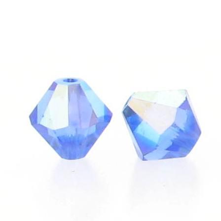 5301/5328 - 5mm Swarovski Bicone Crystal Bead - Sapphire AB